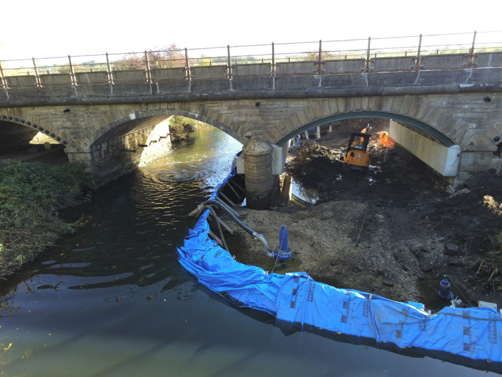 Temporary dams for civils works and inspections